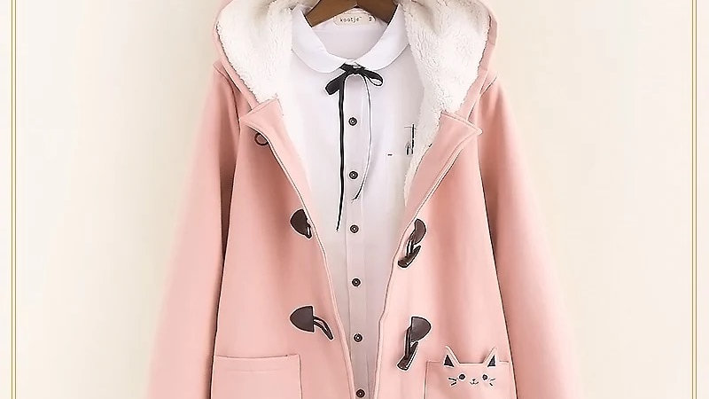 Warm Hooded Cat Style Jacket