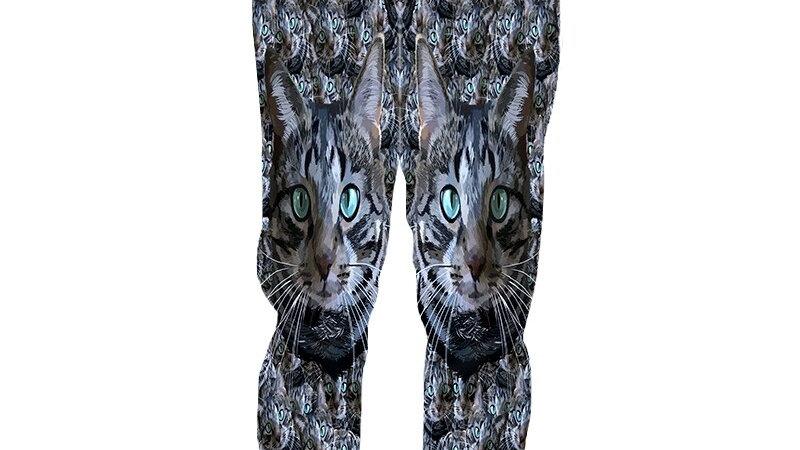 Cool Cat Print Joggers
