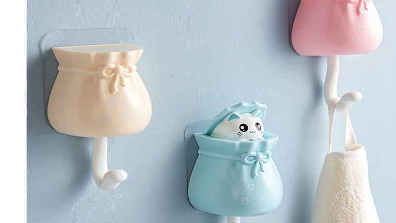 Cat in a Bag Wall Hooks