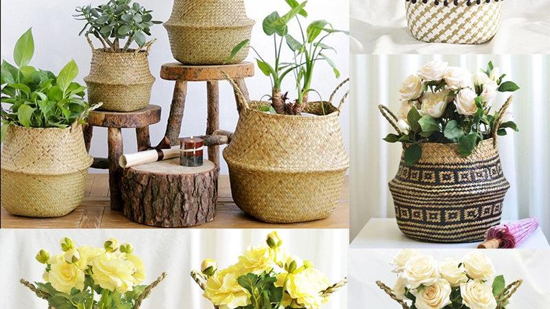 Handmade Bamboo Storage Baskets