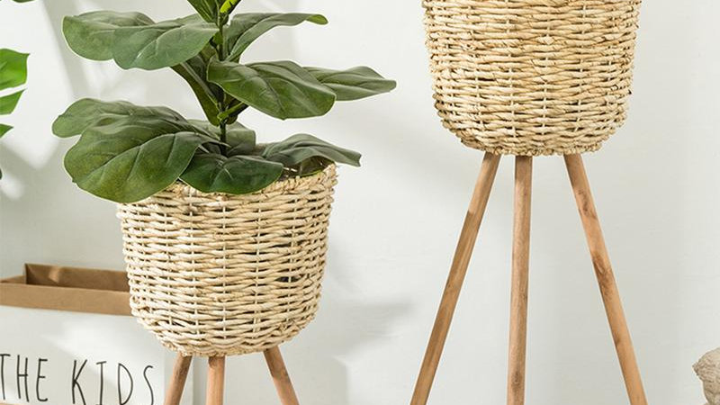 Wicker Plant Pots & Stands