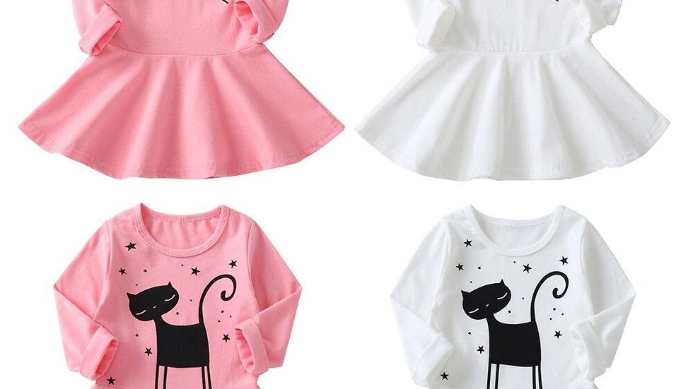 Cute Kitten Print Party Dresses