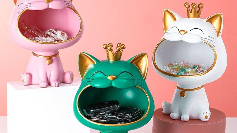 Home Decor Big Mouth Cat Sculpture