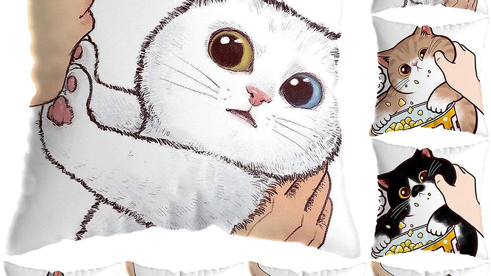 45x45cm Cartoon Cat Cushion Covers
