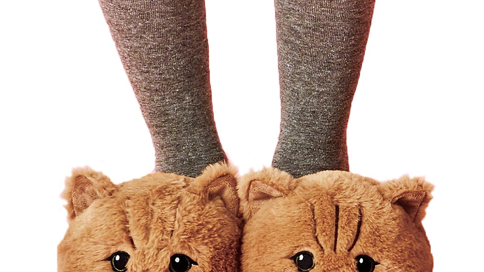 Cute Plush Kitten Slippers