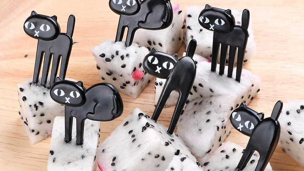 Mini Black Cat Party Forks