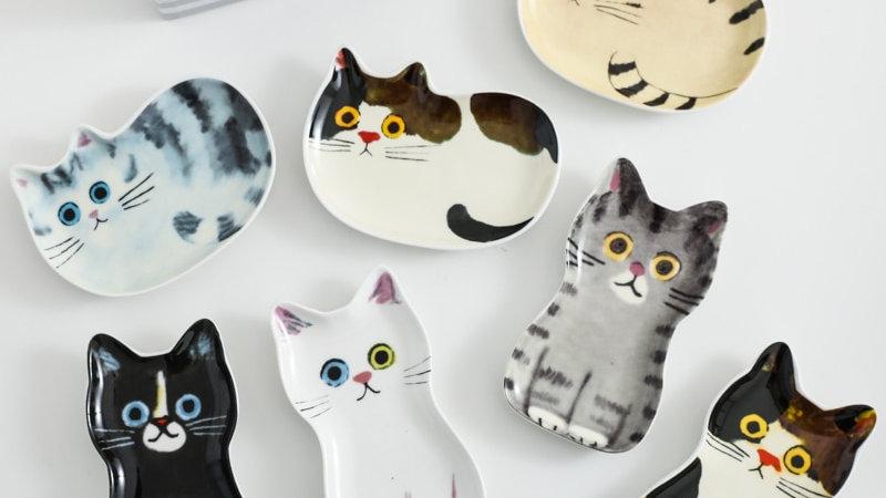 Cartoon Ceramic Kitty Dishes