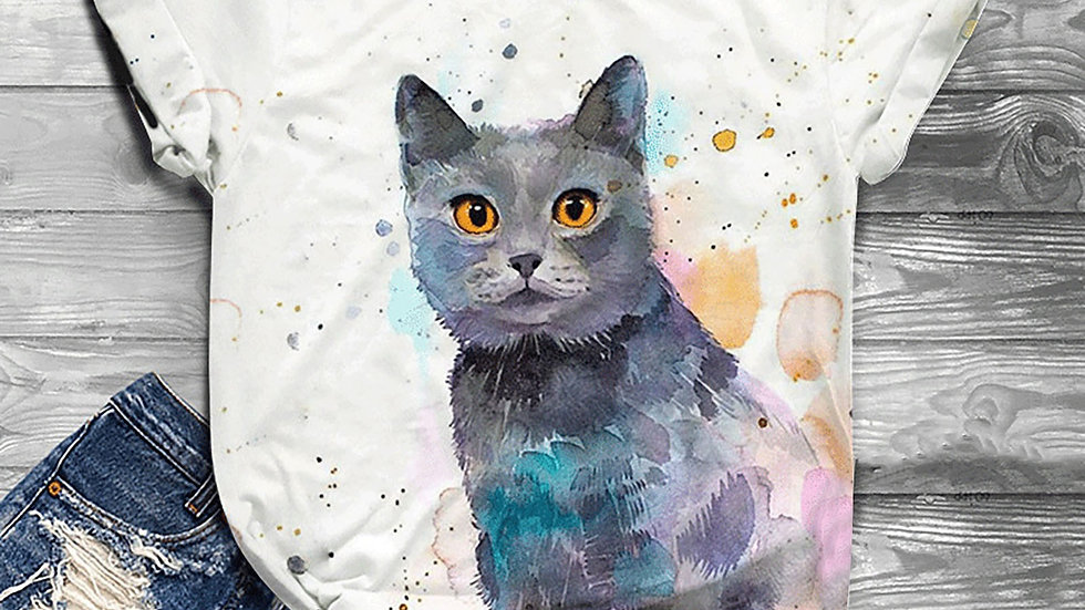 Women's Cat Design T-shirts