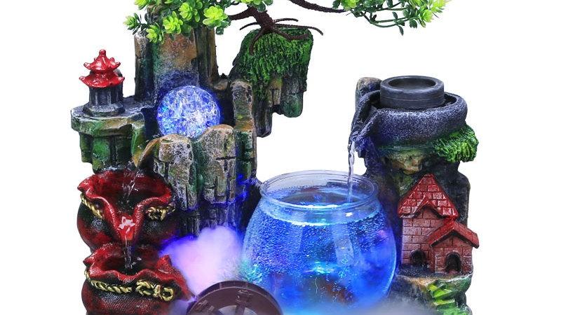 Resin Mini Fish Tank Ornament