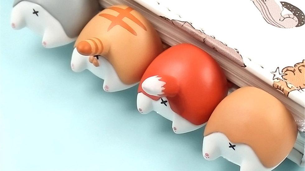 1pc Cartoon Animal Butt Bookmark