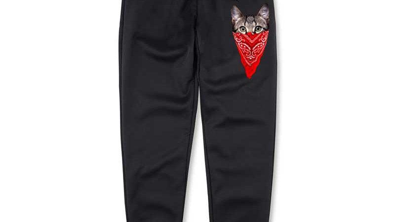 Men's Gangster Cat Sweatpants
