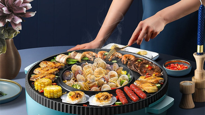 Multi-Functional Electric BBQ Grill