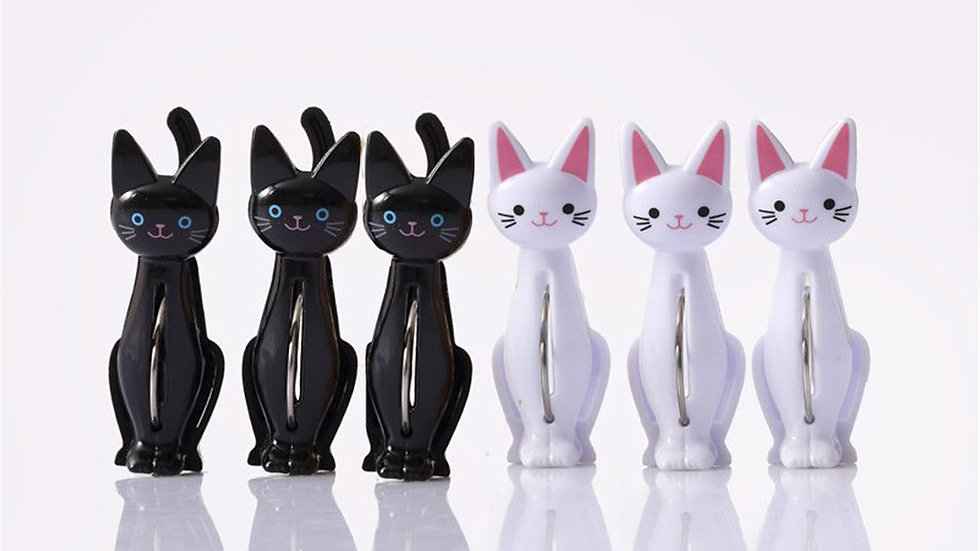 4pcs Kitty Pegs
