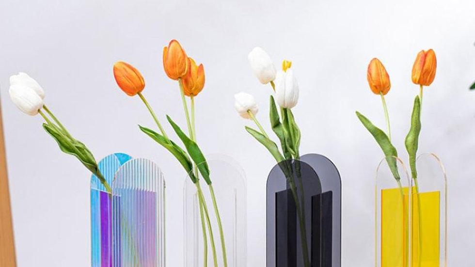 Acrylic Vases / Colourful Flower Vases