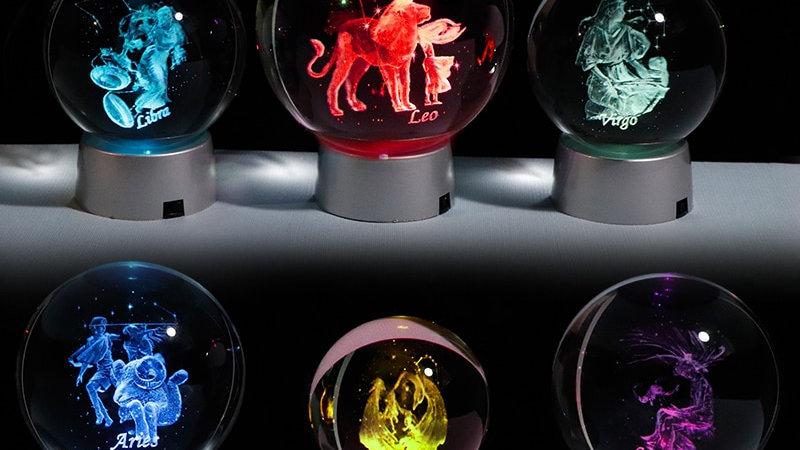 3D Zodiac Crystal Balls