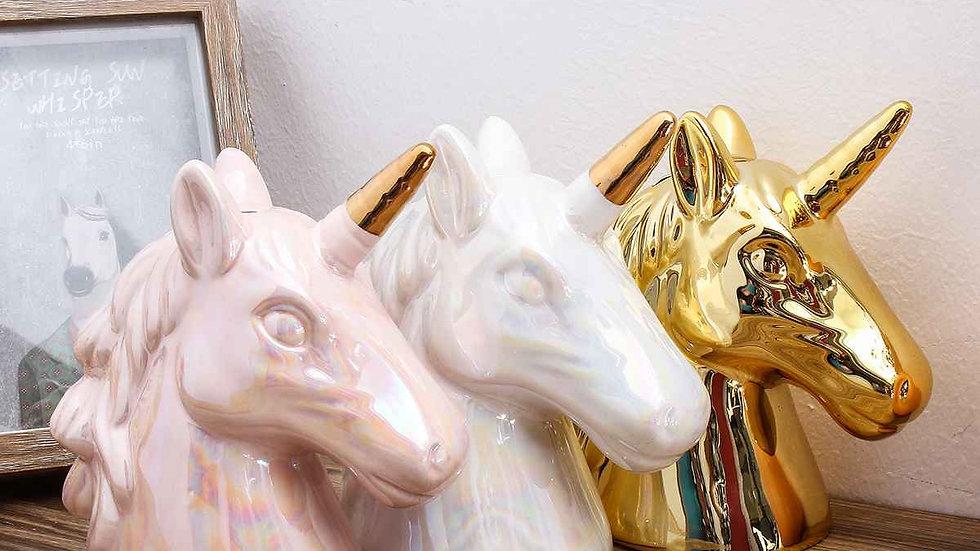 Ceramic Unicorn 'Piggy' Bank