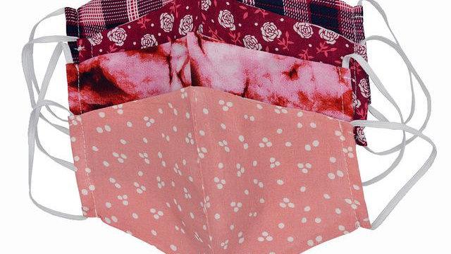 Mixed Pattern Pink Masks