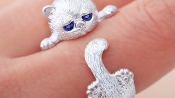 Cute Little Cat Ring