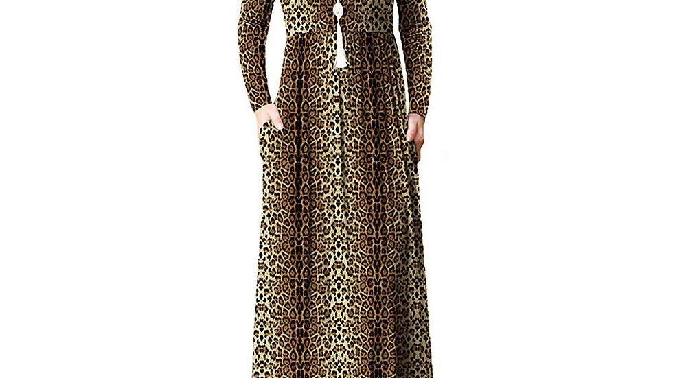 Leopard Print Maternity Dress