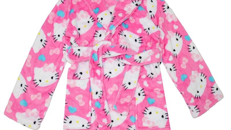 Cute Girls Kitty Dressing Gown