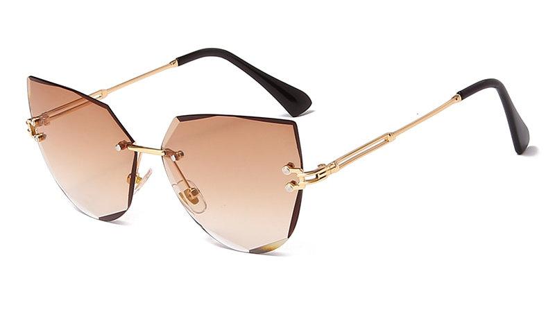 Rimless Cat Eye Sunglasses