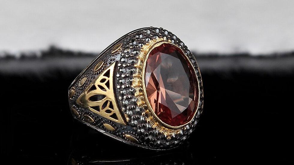 Handmade Men's Silver Zultanite Ring