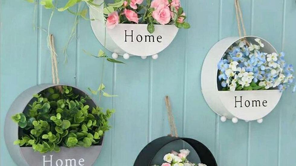 Iron Wall Flower Basket