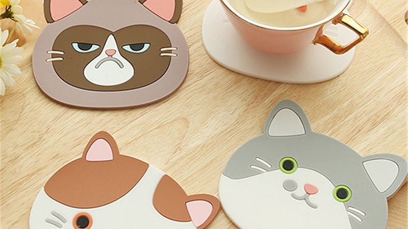 Cat Shaped Coaster