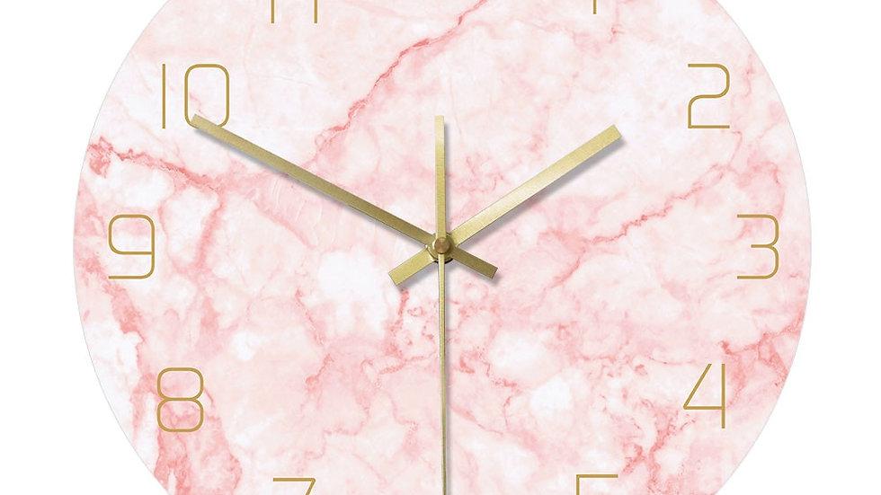 Pink Marble Wall Clocks