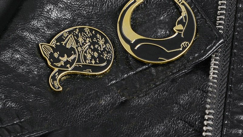 Mysterious Cat Brooches