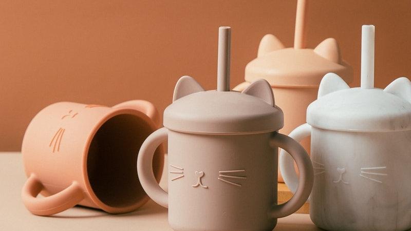 Cat Print Baby Cups