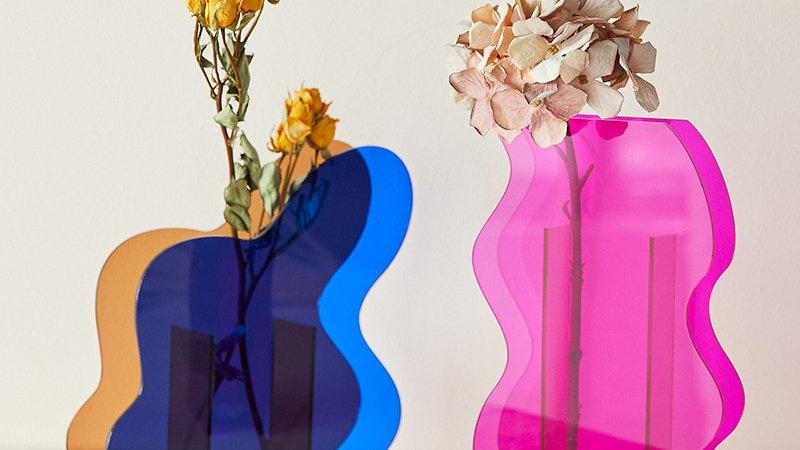 Colorful Acrylic Vase Art