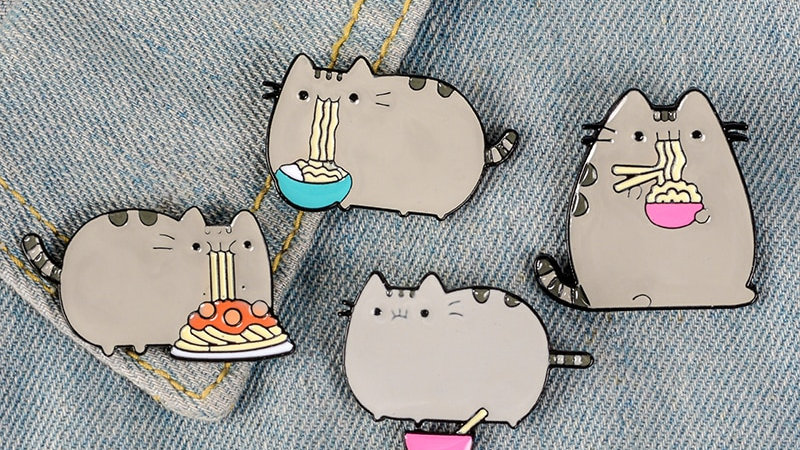 Cute Kitten Noodles Badges