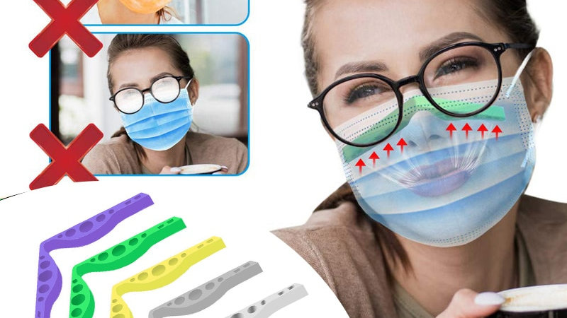 Reusable Anti Fog Silicone Nose Bracket for Masks