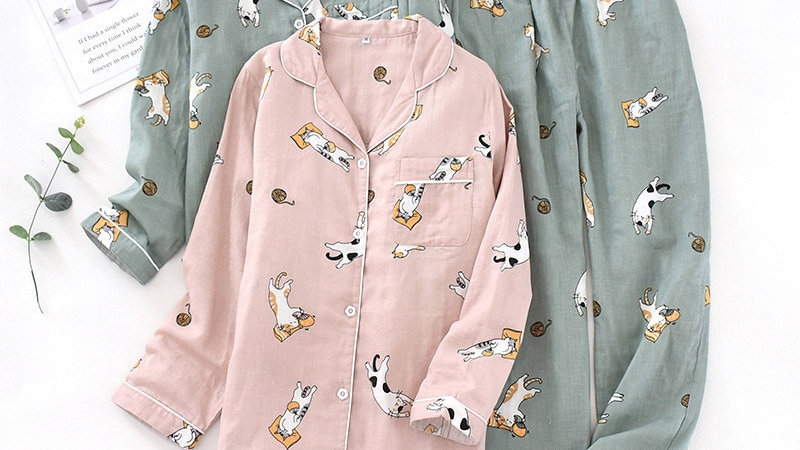 Cotton Cartoon Print Women's Pyjamas