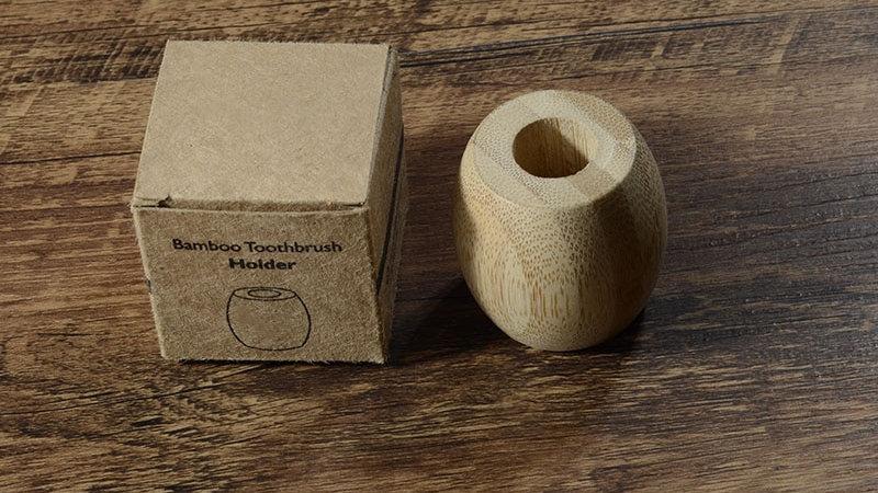 Wooden Bamboo Toothbrush Holder