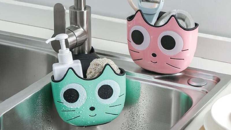 Cute Cat Shape Sink Shelf