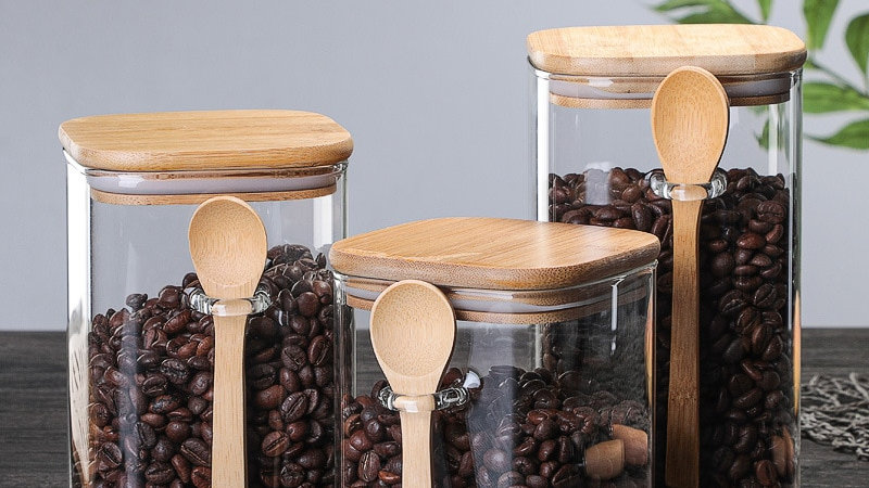 Glass Condiment Jar with Attachable Spoon