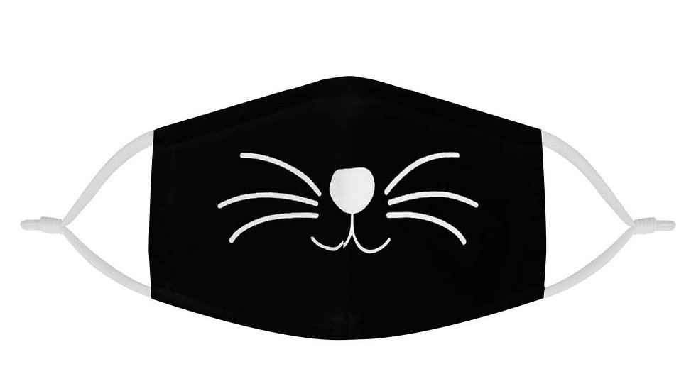 Black Cat Face Mask