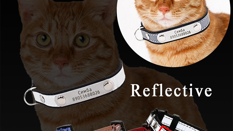 Engraved Reflective Pet Collar
