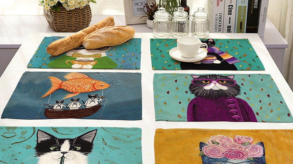 Kitten Placemat for Dining Table