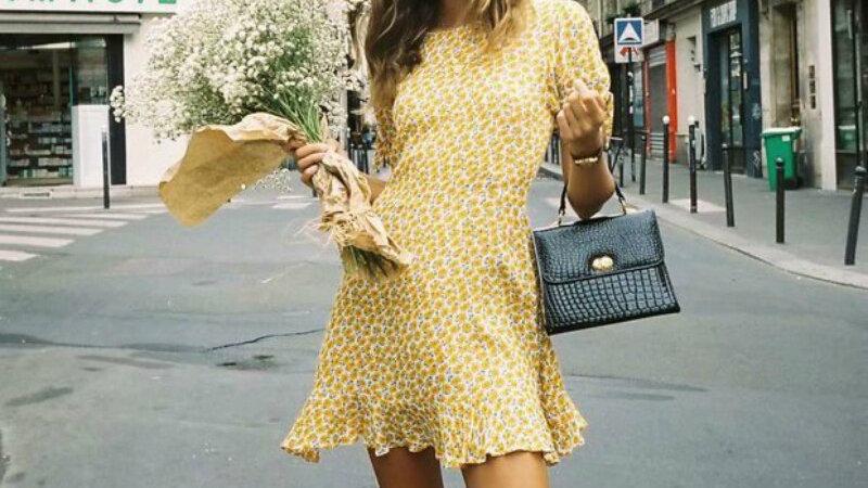 Bohemian Style Short Sleeved Dress