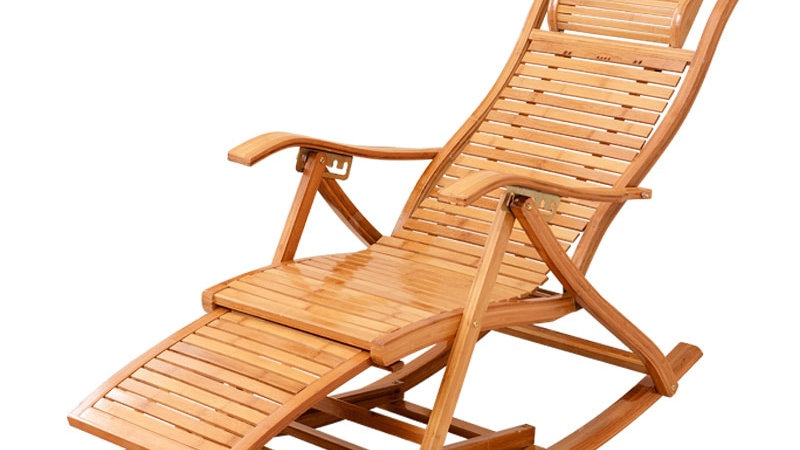 Foldable Bamboo Rocking Chair