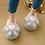 Thumbnail: Womens Kitty Paw Slippers