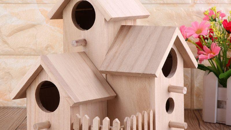 Dainty Wooden Bird Houses