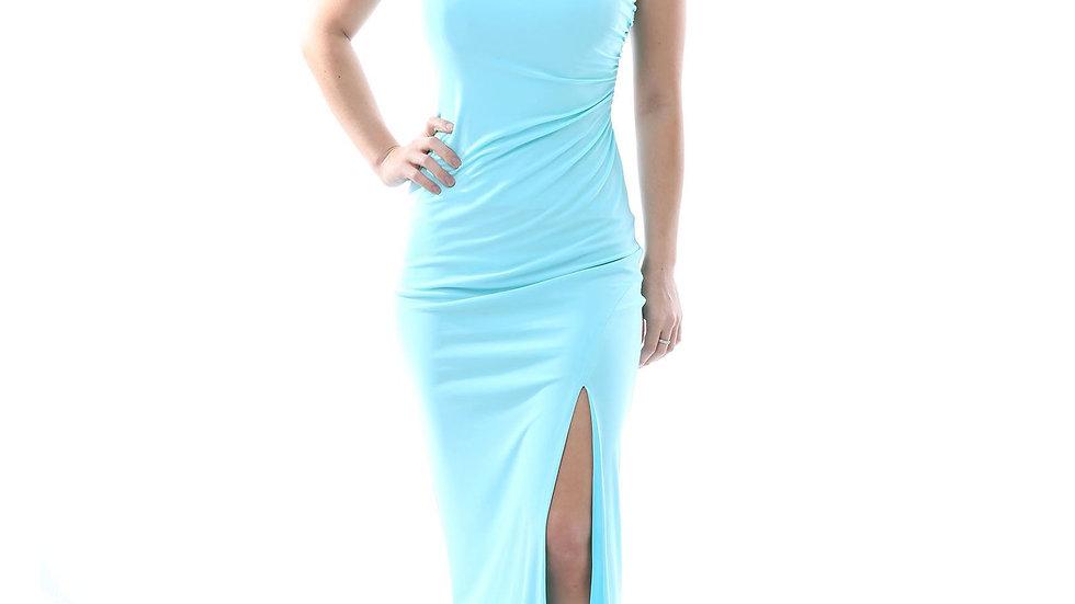 Strapless Evening Dress - Light Blue