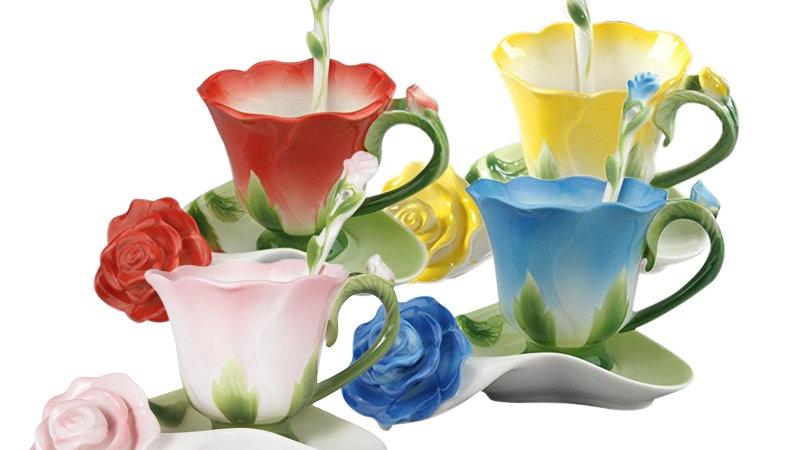 Ceramic Rose Cups
