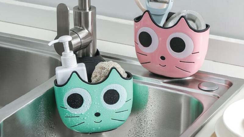 Cute Cat Shape Sink Shelf