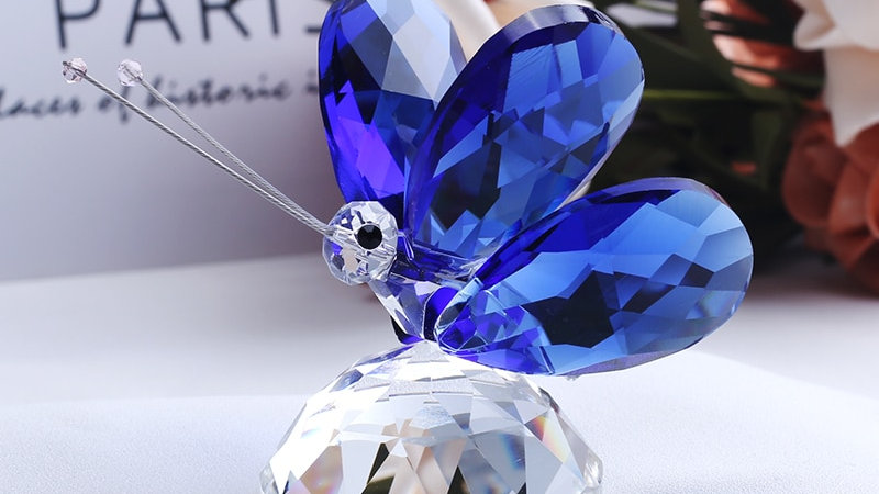 Handmade Crystal Butterfly Figurine
