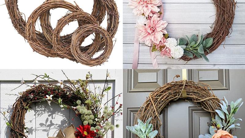 Rattan/Bamboo/Metal Door Wreaths